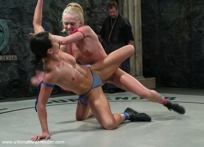 Photo number 10 from The Gymnast (3-5) Ranked 8th<br>Blondie(0-2) Ranked 11th shot for Ultimate Surrender on Kink.com. Featuring Wenona and Sarah Jane Ceylon in hardcore BDSM & Fetish porn.