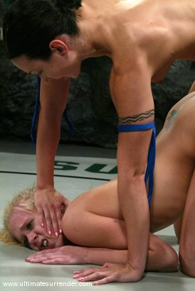 Photo number 15 from The Gymnast (3-5) Ranked 8th<br>Blondie(0-2) Ranked 11th shot for Ultimate Surrender on Kink.com. Featuring Wenona and Sarah Jane Ceylon in hardcore BDSM & Fetish porn.
