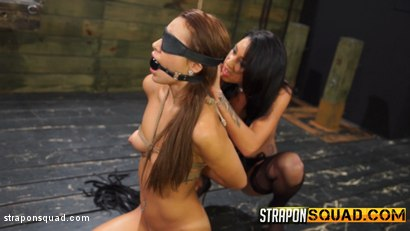 Photo number 2 from Marina Angel Endures Lesbian Domination with Esmi Lee & Abella Danger shot for Strapon Squad on Kink.com. Featuring Marina Angel, Abella Danger and Esmi Lee in hardcore BDSM & Fetish porn.