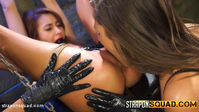 Photo number 11 from Marina Angel Endures Lesbian Domination with Esmi Lee & Abella Danger shot for Strapon Squad on Kink.com. Featuring Marina Angel, Abella Danger and Esmi Lee in hardcore BDSM & Fetish porn.