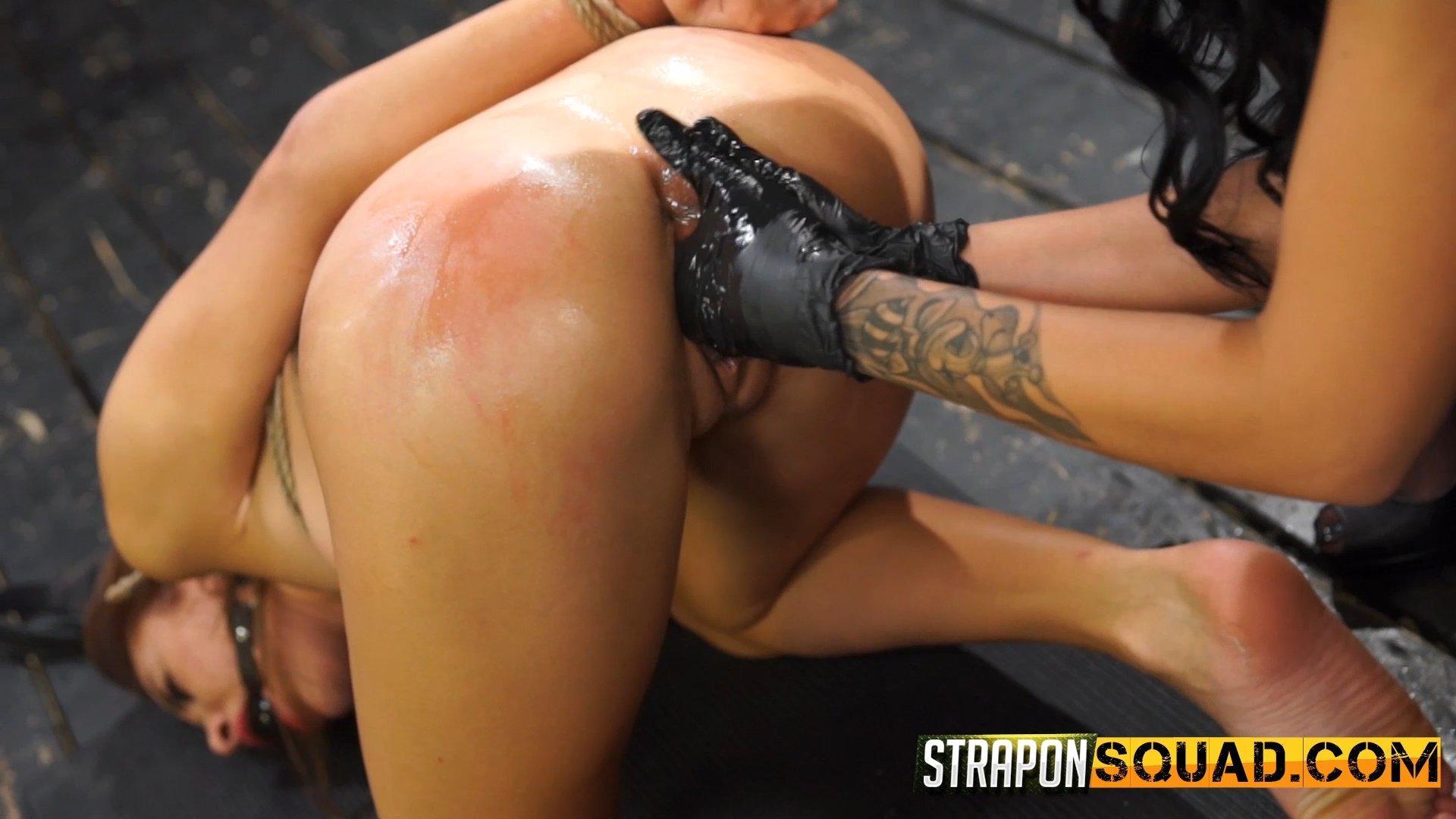 Photo number 8 from Marina Angel Endures Lesbian Domination with Esmi Lee & Abella Danger shot for Strapon Squad on Kink.com. Featuring Marina Angel and Abella Danger in hardcore BDSM & Fetish porn.
