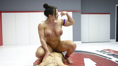 Photo number 5 from muscle Goddesses Battle on the mats shot for Ultimate Surrender on Kink.com. Featuring Cheyenne Jewel and Brandi Mae in hardcore BDSM & Fetish porn.
