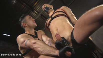 Photo number 7 from New boy with a big cock at Mr Ducati's mercy shot for Bound Gods on Kink.com. Featuring Trenton Ducati and Nate Grimes in hardcore BDSM & Fetish porn.