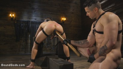 Photo number 9 from New boy with a big cock at Mr Ducati's mercy shot for Bound Gods on Kink.com. Featuring Trenton Ducati and Nate Grimes in hardcore BDSM & Fetish porn.