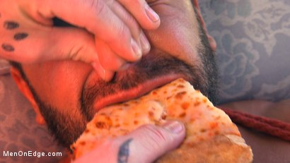 Photo number 14 from Delivery Gone Wrong - Uncut Stud Gets Edged By the Pizza Delivery Guy shot for Men On Edge on Kink.com. Featuring Dominic Pacifico in hardcore BDSM & Fetish porn.