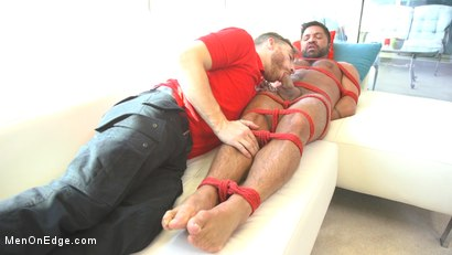 Photo number 6 from Delivery Gone Wrong - Uncut Stud Gets Edged By the Pizza Delivery Guy shot for Men On Edge on Kink.com. Featuring Dominic Pacifico in hardcore BDSM & Fetish porn.