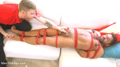 Photo number 8 from Delivery Gone Wrong - Uncut Stud Gets Edged By the Pizza Delivery Guy shot for Men On Edge on Kink.com. Featuring Dominic Pacifico in hardcore BDSM & Fetish porn.