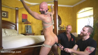 Photo number 9 from Muscled Hunk Ass Fucked While Begging to Cum shot for Men On Edge on Kink.com. Featuring Mitch Vaughn in hardcore BDSM & Fetish porn.
