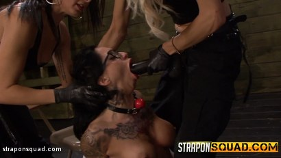 Photo number 5 from Naughty Schoolgirl Alby Rydes is Punished by Mila Blaze & Isa Mendez shot for Strapon Squad on Kink.com. Featuring Alby Rydes in hardcore BDSM & Fetish porn.