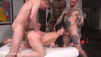Photo number 21 from The Red Bride shot for Hardcore Gangbang on Kink.com. Featuring Siouxsie Q, Tommy Pistol, Jon Jon, Small Hands, Mark Wood and Will Havoc in hardcore BDSM & Fetish porn.