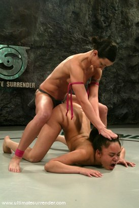 Photo number 15 from The Gymnast (1-5) Not Ranked<br> The Scorpion (1-3) Ranked 10th shot for Ultimate Surrender on Kink.com. Featuring Annie Cruz and Wenona in hardcore BDSM & Fetish porn.