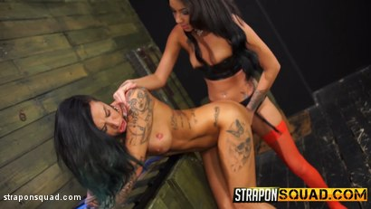 Photo number 11 from Alby Rydes Endures Lesbian Domination & Sybian with Esmi Lee shot for Strapon Squad on Kink.com. Featuring Alby Rydes  and Esmi Lee in hardcore BDSM & Fetish porn.