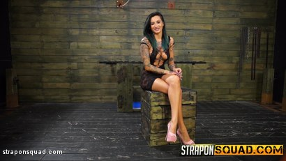 Photo number 2 from Alby Rydes Endures Lesbian Domination & Sybian with Esmi Lee shot for Strapon Squad on Kink.com. Featuring Alby Rydes in hardcore BDSM & Fetish porn.