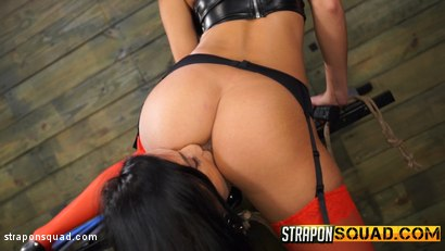 Photo number 3 from Alby Rydes Endures Lesbian Domination & Sybian with Esmi Lee shot for Strapon Squad on Kink.com. Featuring Alby Rydes in hardcore BDSM & Fetish porn.