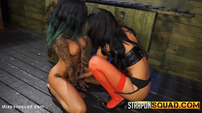 Photo number 4 from Alby Rydes Endures Lesbian Domination & Sybian with Esmi Lee shot for Strapon Squad on Kink.com. Featuring Alby Rydes  and Esmi Lee in hardcore BDSM & Fetish porn.