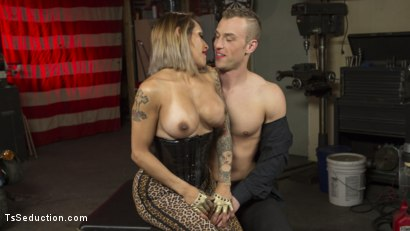 Photo number 1 from TS Foxxy Fills Alrik Angel's Tank With Hard Dick shot for TS Seduction on Kink.com. Featuring TS Foxxy and Alrik Angel in hardcore BDSM & Fetish porn.