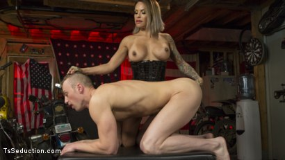 Photo number 11 from TS Foxxy Fills Alrik Angel's Tank With Hard Dick shot for TS Seduction on Kink.com. Featuring TS Foxxy and Alrik Angel in hardcore BDSM & Fetish porn.