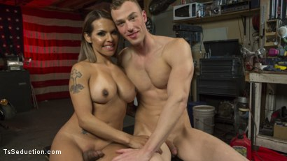 Photo number 21 from TS Foxxy Fills Alrik Angel's Tank With Hard Dick shot for TS Seduction on Kink.com. Featuring TS Foxxy and Alrik Angel in hardcore BDSM & Fetish porn.