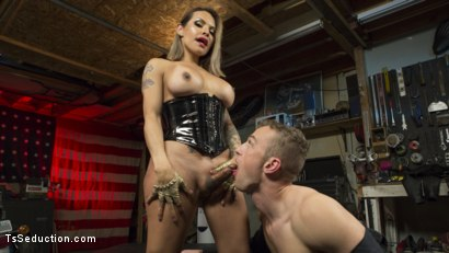 Photo number 6 from TS Foxxy Fills Alrik Angel's Tank With Hard Dick shot for TS Seduction on Kink.com. Featuring TS Foxxy and Alrik Angel in hardcore BDSM & Fetish porn.