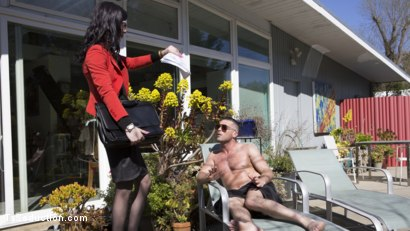 Photo number 22 from Repo My Asshole!: Repo Goddess Blackmails Slutty Homeowner shot for TS Seduction on Kink.com. Featuring Lance Hart and Stefani Special in hardcore BDSM & Fetish porn.