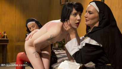 Photo number 15 from Anal Initiation: Aspiring Nun Gets Beaten & Fucked! shot for Whipped Ass on Kink.com. Featuring Mona Wales, Helena Locke and Charlotte Sartre in hardcore BDSM & Fetish porn.
