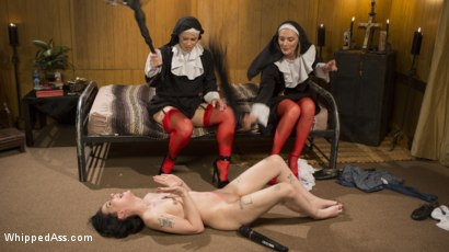 Photo number 24 from Anal Initiation: Aspiring Nun Gets Beaten & Fucked! shot for Whipped Ass on Kink.com. Featuring Mona Wales, Helena Locke and Charlotte Sartre in hardcore BDSM & Fetish porn.