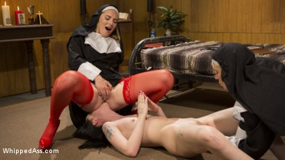 Photo number 6 from Anal Initiation: Aspiring Nun Gets Beaten & Fucked! shot for Whipped Ass on Kink.com. Featuring Mona Wales, Helena Locke and Charlotte Sartre in hardcore BDSM & Fetish porn.