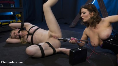 Photo number 19 from Cherry Torn Plays with her Masochistic Electro-Painslut shot for Electro Sluts on Kink.com. Featuring Cherry Torn and Riley Reyes in hardcore BDSM & Fetish porn.