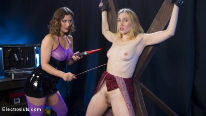 Photo number 2 from Cherry Torn Plays with her Masochistic Electro-Painslut shot for Electro Sluts on Kink.com. Featuring Cherry Torn and Riley Reyes in hardcore BDSM & Fetish porn.
