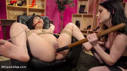 Photo number 18 from Shoe Store Slut Blackmailed for Orgasms By Rich Bitch Client shot for Whipped Ass on Kink.com. Featuring Nari Park  and Veruca James in hardcore BDSM & Fetish porn.