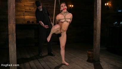 Photo number 1 from New Pain Slut Proves her Worth to The Popes High Expectations shot for Hogtied on Kink.com. Featuring Kimber Woods and The Pope in hardcore BDSM & Fetish porn.