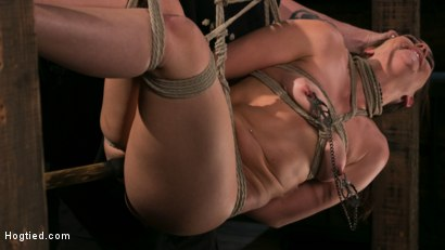 Photo number 13 from New Pain Slut Proves her Worth to The Popes High Expectations shot for Hogtied on Kink.com. Featuring Kimber Woods and The Pope in hardcore BDSM & Fetish porn.