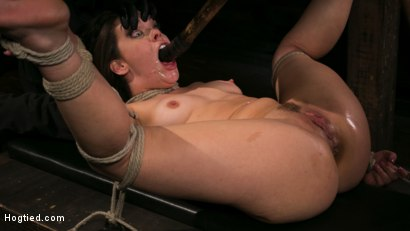 Photo number 17 from New Pain Slut Proves her Worth to The Popes High Expectations shot for Hogtied on Kink.com. Featuring Kimber Woods and The Pope in hardcore BDSM & Fetish porn.
