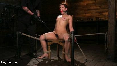 Photo number 9 from New Pain Slut Proves her Worth to The Popes High Expectations shot for Hogtied on Kink.com. Featuring Kimber Woods and The Pope in hardcore BDSM & Fetish porn.