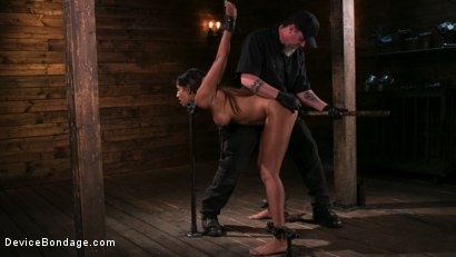Photo number 7 from Fresh Meat - Sadie Santana  shot for Device Bondage on Kink.com. Featuring Sadie Santana and The Pope in hardcore BDSM & Fetish porn.
