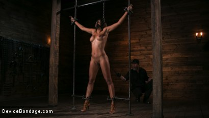 Photo number 9 from Fresh Meat - Sadie Santana  shot for Device Bondage on Kink.com. Featuring Sadie Santana and The Pope in hardcore BDSM & Fetish porn.