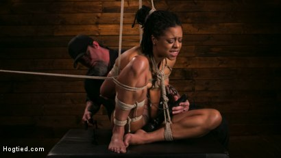 Photo number 1 from Brutal Predicament Bondage Devastates Kira Noir   shot for Hogtied on Kink.com. Featuring The Pope and Kira Noir in hardcore BDSM & Fetish porn.