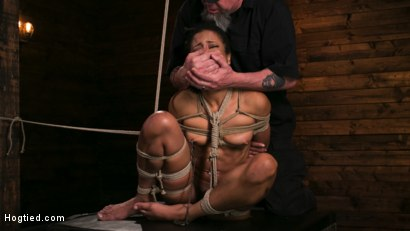 Photo number 12 from Brutal Predicament Bondage Devastates Kira Noir   shot for Hogtied on Kink.com. Featuring The Pope and Kira Noir in hardcore BDSM & Fetish porn.