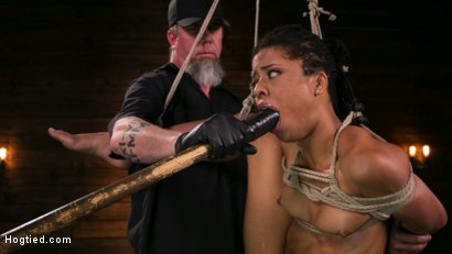 Photo number 14 from Brutal Predicament Bondage Devastates Kira Noir   shot for Hogtied on Kink.com. Featuring The Pope and Kira Noir in hardcore BDSM & Fetish porn.