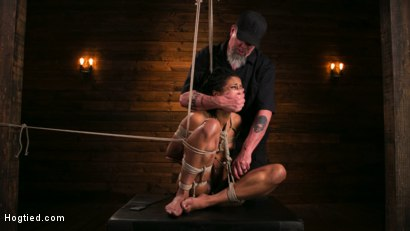 Photo number 2 from Brutal Predicament Bondage Devastates Kira Noir   shot for Hogtied on Kink.com. Featuring The Pope and Kira Noir in hardcore BDSM & Fetish porn.