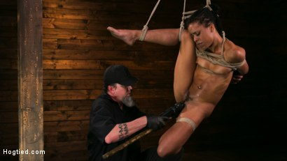 Photo number 5 from Brutal Predicament Bondage Devastates Kira Noir   shot for Hogtied on Kink.com. Featuring The Pope and Kira Noir in hardcore BDSM & Fetish porn.