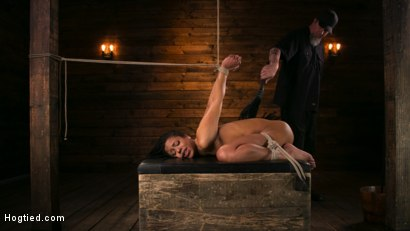 Photo number 6 from Brutal Predicament Bondage Devastates Kira Noir   shot for Hogtied on Kink.com. Featuring The Pope and Kira Noir in hardcore BDSM & Fetish porn.