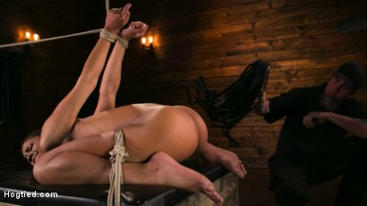 Photo number 9 from Brutal Predicament Bondage Devastates Kira Noir   shot for Hogtied on Kink.com. Featuring The Pope and Kira Noir in hardcore BDSM & Fetish porn.