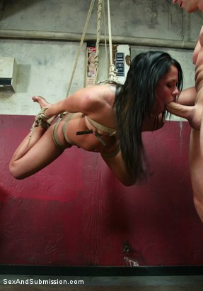 Photo number 8 from Classic Archive Feature: Bathroom Etiquette shot for Sex And Submission on Kink.com. Featuring Brandon Iron and Savannah Stern in hardcore BDSM & Fetish porn.