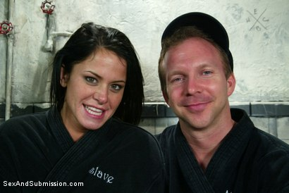 Photo number 15 from Classic Archive Feature: Bathroom Etiquette shot for Sex And Submission on Kink.com. Featuring Brandon Iron and Savannah Stern in hardcore BDSM & Fetish porn.