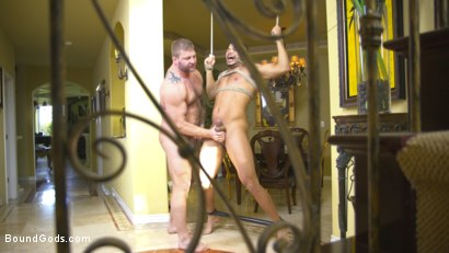Photo number 9 from The Arrangement  shot for Bound Gods on Kink.com. Featuring Kaden Alexander and Colby Jansen in hardcore BDSM & Fetish porn.