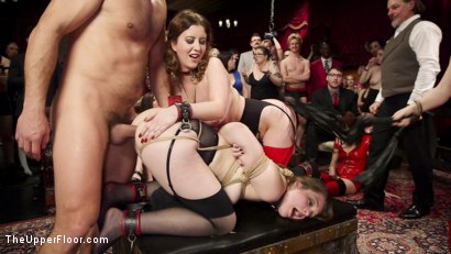 Photo number 12 from Armory Upper Floor Finale Part 2: Nora's Debasement shot for The Upper Floor on Kink.com. Featuring Ramon Nomar, Aiden Starr, Cherry Torn and Nora Riley in hardcore BDSM & Fetish porn.