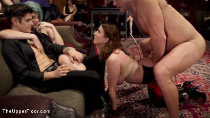 Photo number 14 from Armory Upper Floor Finale Part 2: Nora's Debasement shot for The Upper Floor on Kink.com. Featuring Ramon Nomar, Aiden Starr, Cherry Torn and Nora Riley in hardcore BDSM & Fetish porn.