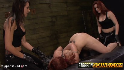 Photo number 1 from Pain Sub Slut Alessa Snow Endures Lesbian Domination shot for Strapon Squad on Kink.com. Featuring Kimber Woods, Alessa Snow and Isa Mendez in hardcore BDSM & Fetish porn.