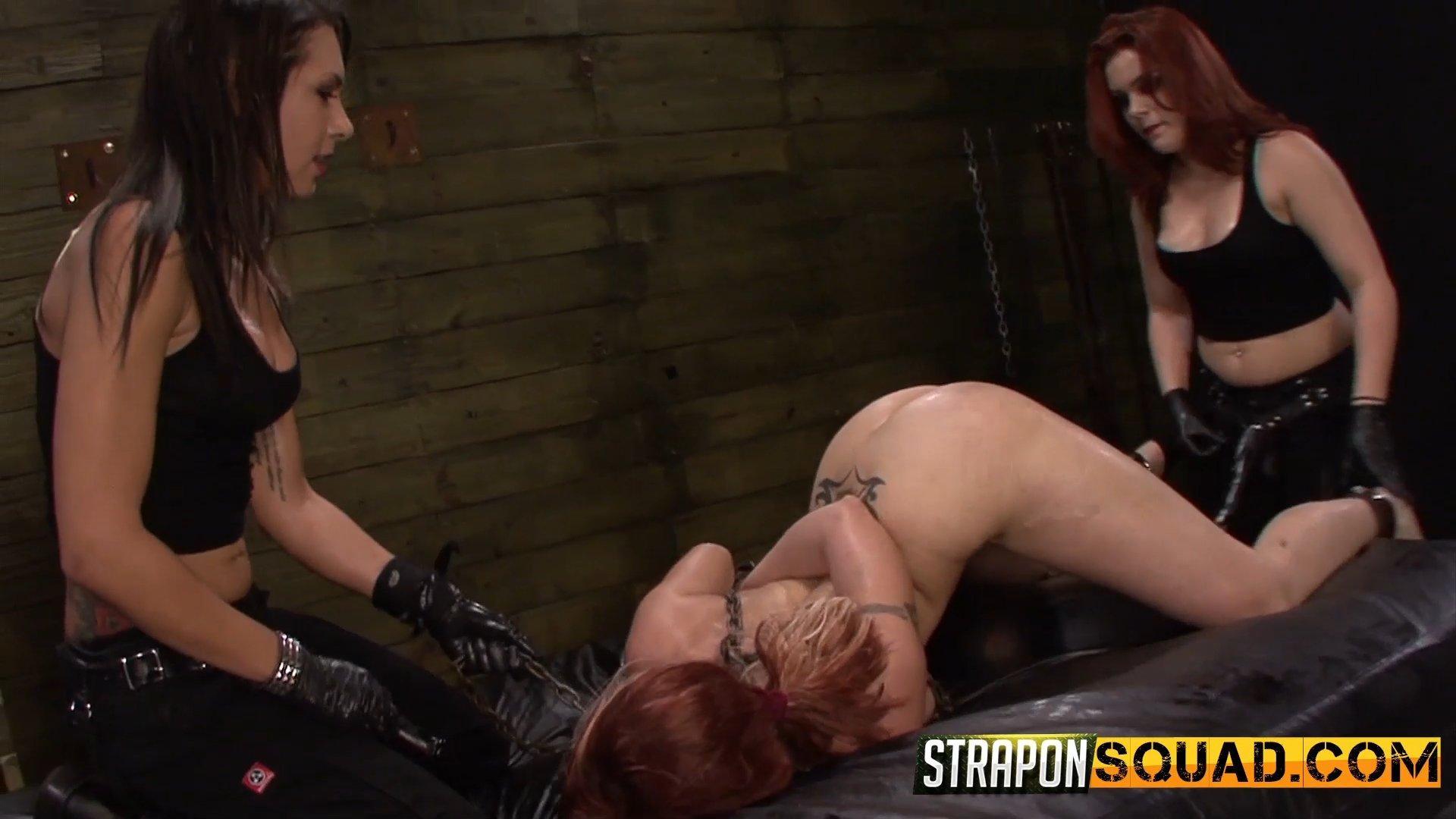 lesbian sub slut - Photo number 1 from Pain Sub Slut Alessa Snow Endures Lesbian Domination  shot for Strapon Squad